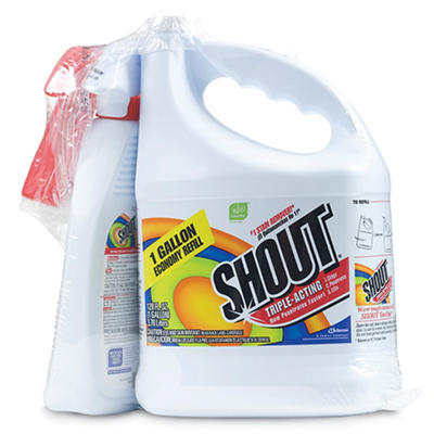 Shout® Stain Remover with Extendable Trigger Hose -128 oz + 22 oz.