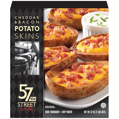57th Street Grille Cheddar & Bacon Potato Skins - 32 oz.