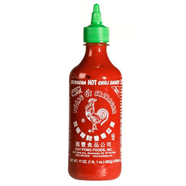 Huy Fong Sriracha HOT Chili Sauce - 2/ 28 oz.