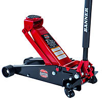 Blackhawk Fast-lift Service Jack - 3.5 Ton Capacity (Black/Red)