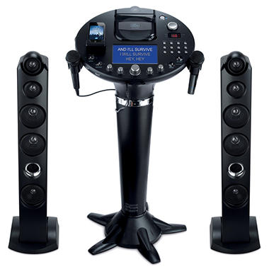 Singing Machine Pedestal CD+G Karaoke Player with iPod Dock and 7? TFT LCD Color Monitor