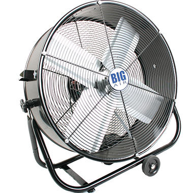 "Lasko 24"" Drum Fan with Tilting Feature"