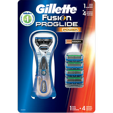 Gillette Fusion Proglide Power + 4 Cartridges