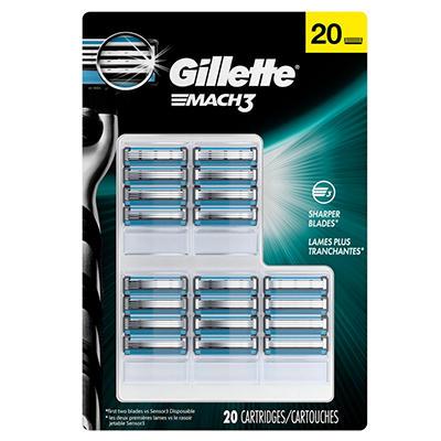 Gillette MACH3 Cartridges - 20 ct.