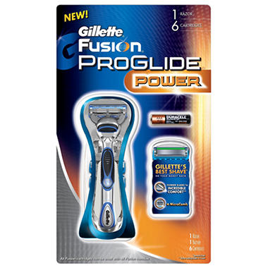 Gillette Fusion ProGlide Power Razor + 6 Cartridges