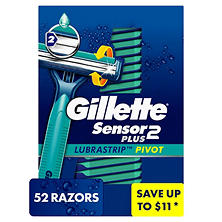 Gillette Custom Plus Disposable Razor (52 ct.)