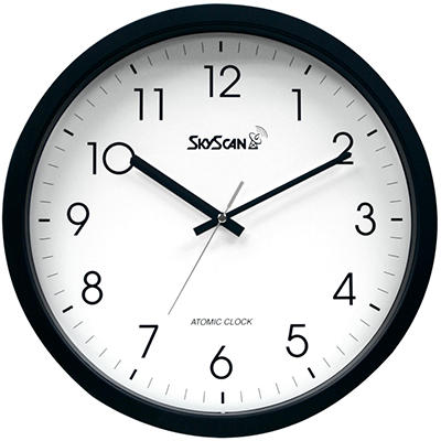 "Skyscan Atomic Analog Wall Clock - 14"""