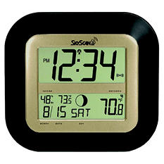 SkyScan Atomic Digital Clock- Black