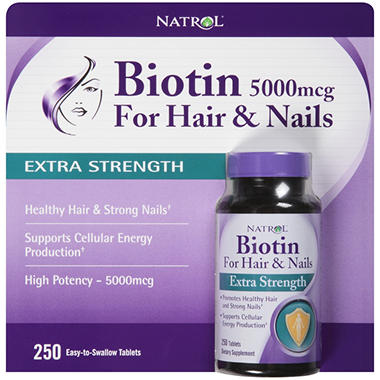 Natrol® Biotin Extra Strength Dietary Supplement - 5000mcg /250 ct.