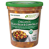 Fresh Food Concepts Organic Black Bean and Corn Salad (34 oz. tub, 6 pk.)