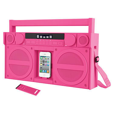 iHome Portable FM Boombox for iPhone/iPod