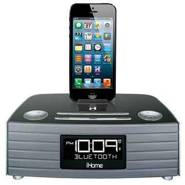 iHome Bluetooth Stereo FM Clock Radio w/ USB Charging