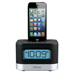 Stereo FM Clock Radio with Lightning Dock for iPhone/iPod