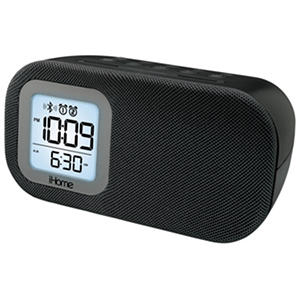Bluetooth Bedside Dual Alarm Clock with USB Charging and Line-in