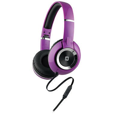 iHome On-Ear Foldable Headphones with Mic and Remote - Various Colors
