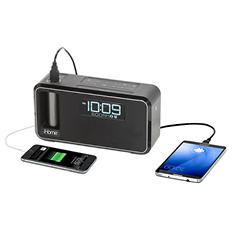 iHome Kineta Bluetooth Alarm Clock Radio with Portable Removable Power