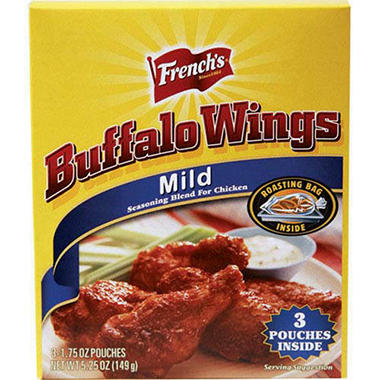 French's® Buffalo Wings Mild Seasoning - 3/1.7oz