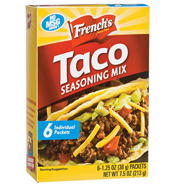 French's® Taco Seasoning Mix - 6/1.25 oz. packets