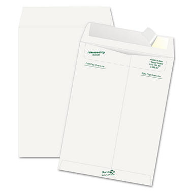 "Survivor Tyvek Mailer - Side Seam - 9"" x 12"" - White - 50 ct."