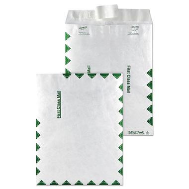 SURVIVOR - Tyvek USPS First Class Mailer, Side Seam, 9 x 12, White - 100/Box