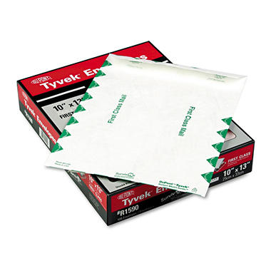 Quality Park - Tyvek Open End Envelopes - 100 Pack