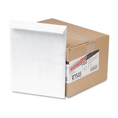 Quality Park - Tyvek Air Bubble Mailer, Self-Seal, Side Seam, 10 x 13, White, 25 per Box
