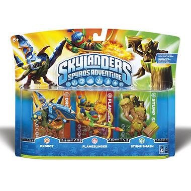 Skylanders 3 Character Pack: Drobot, Flameslinger and Stump Smash