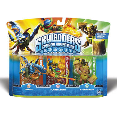 Skylanders 3 Character Pack: Drobot, Flameslinger and Stump Smash