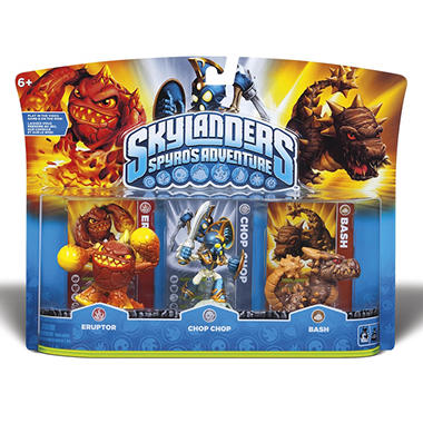 Skylanders 3 Character Pack: Eruptor, Chop Chop and Bash