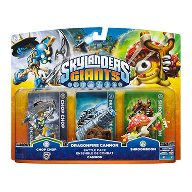 Skylanders Giants Battle Pack - Chop Chop - Dragonfire Cannon - ShroomBoom
