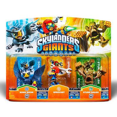 Skylanders Giants Triple Character Pack - Sonic Boom - Sprocket - Stump Smash