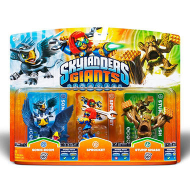 Skylanders Giants Triple Character Pack - Sonic Boom - Sprocket - Stump Smash