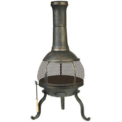 Sonora Chimenea Wood Buning Outdoor Fireplace