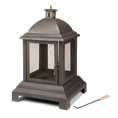 Colonial Wood Burning Outdoor Fireplace