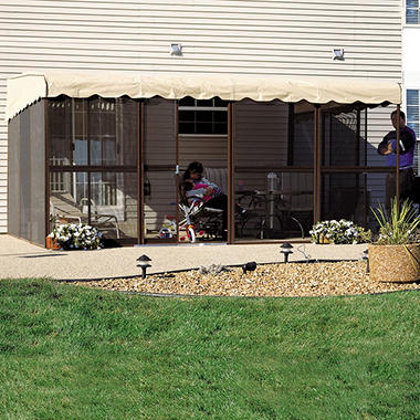 PatioMate® Screen Enclosure - 178 sq. ft. - Almond