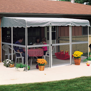 "PatioMate� Screen Enclosure - 7'8"" x 11'6"" - Gray"