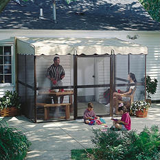 "PatioMate® Screen Enclosure - 7'8"" x 11'6"" - Almond"