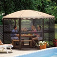 "Casita® Screenhouse - 11'1"" Round - Almond"