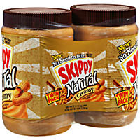 Skippy Natural Creamy Peanut Butter (40 oz., 2 pk.)
