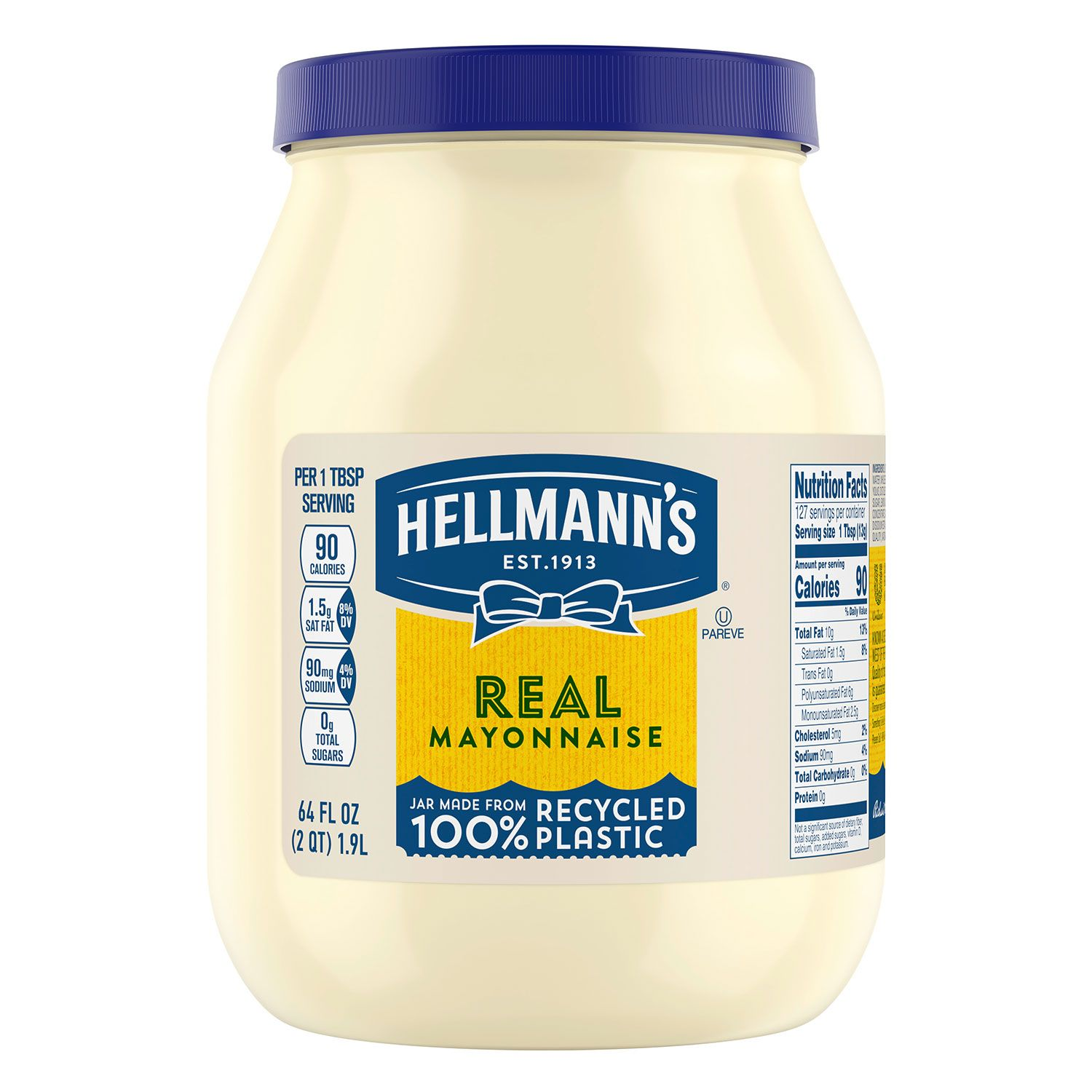 Hellmann 39 s real mayonnaise 64 oz jar ebay - Make best mayonnaise ...