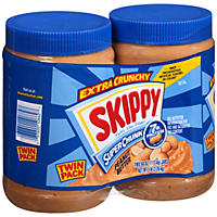 Skippy Natural Super Chunk Peanut Butter Spread (40 oz., 2 pk.)