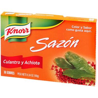 Knorr Sazón Culantro y Achiote (6.34 oz., 36 sobres)