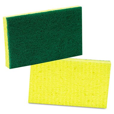 Scotch-Brite Medium-Duty Scrubbing Sponge - 3 1/2 x 6 1/4 - 10 pk.