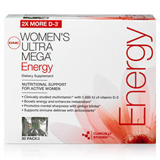 GNC Women's Ultra Mega Energy Vitapaks - 30 pks.