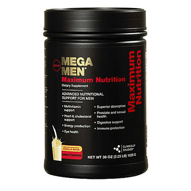 GNC Mega Men Maximum Nutrition Shake - Vanilla Bean - 36 oz.