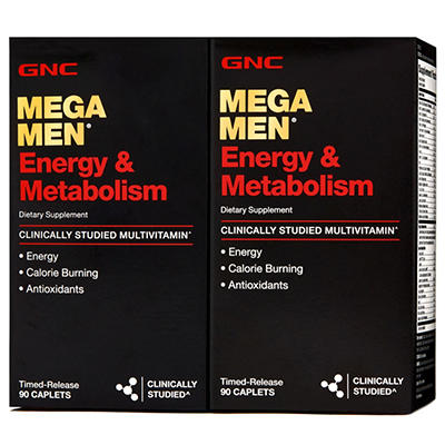 GNC Mega Men Energy & Metabolism Multivitamins - 180 ct.