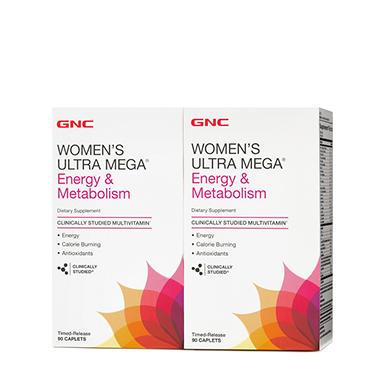 GNC Women's Ultra Mega Energy & Metabolism Multivitamin - 180 ct.