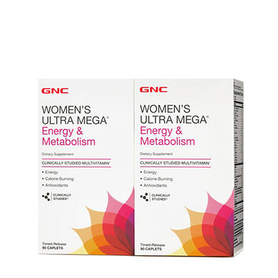 GNC Women's Ultra Mega Energy & Metabolism Multivitamin - 180 ct.