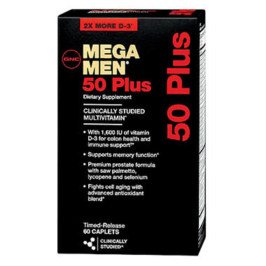 GNC Mega Men 50 Plus Multivitamins - 120 ct.