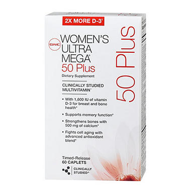GNC Women's Ultra Mega 50 Plus Multivitamins - 120 ct.